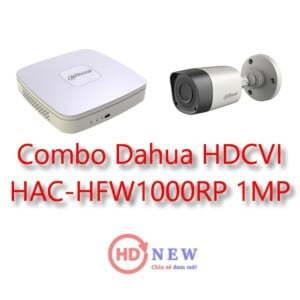 Bộ camera quan sát Dahua HDCVI HAC-HFW1000RP 1MP - HDnew Hà Nội