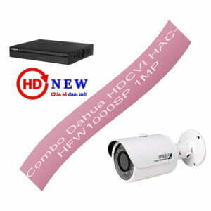 Bộ camera quan sát Dahua HDCVI HAC-HFW1000SP 1MP - HDnew Hà Nội