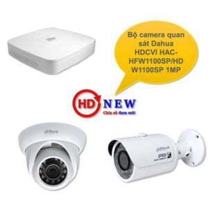 Bộ camera quan sát Dahua HDCVI HAC-HFW1100SP/HDW1100SP 1MP - HDnew Hà Nội