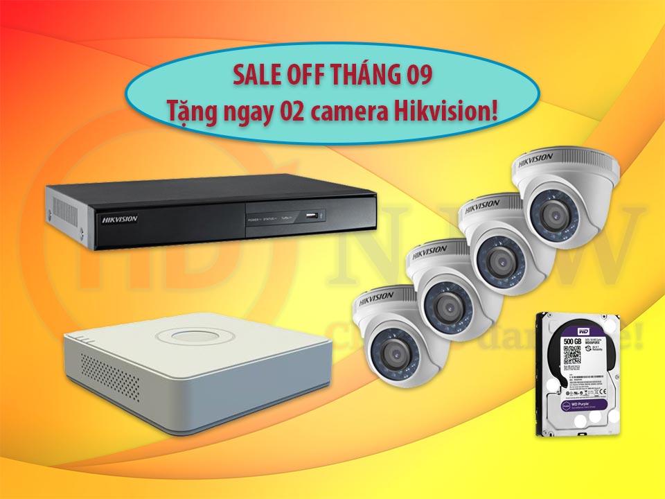 Khuyến mại lắp đặt camera Hikvision 09/2018   HDnew Camera