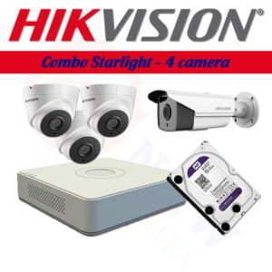 Bộ camera Hikvision 2MP, công nghệ Starlight (có màu ban đêm) | HDnew CCTV
