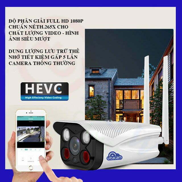 Vitacam VB1080 Pro - Camera IP Wi-Fi Full HD 1080p, đèn quan sát màu ngày đêm   HDnew CCTV