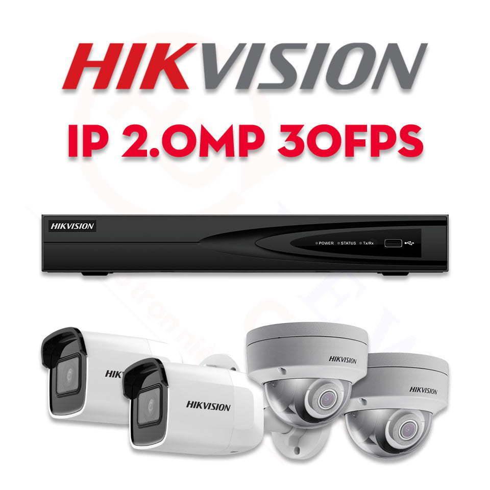 Bộ camera quan sát Hikvision IP 2MP 30fps   HDnew CCTV