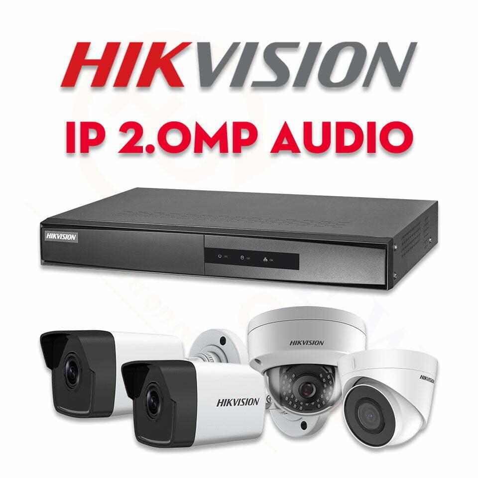 Bộ camera quan sát Hikvision IP 2MP Audio | HDnew CCTV