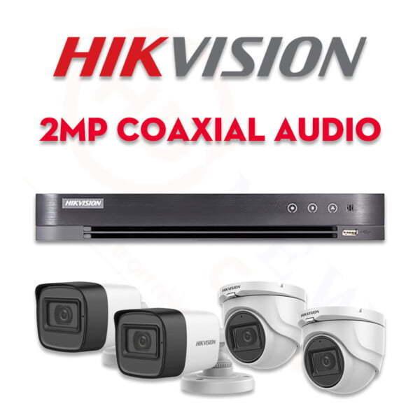 Bộ camera quan sát Hikvision HDTVI 2MP Coaxial Audio   HDnew CCTV