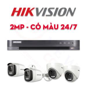 Bộ camera quan sát Hikvision HDTVI 2MP, hình ảnh màu 24/24 | HDnew CCTV