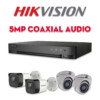 Bộ camera quan sát Hikvision HDTVI 5MP Coaxial Audio | HDnew CCTV