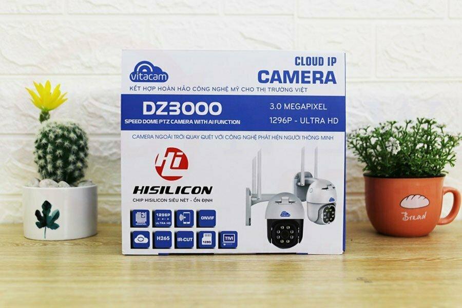 Vitacam DZ3000 - Camera IP Speed Dome PTZ 3MP (1296P) | HDnew CCTV