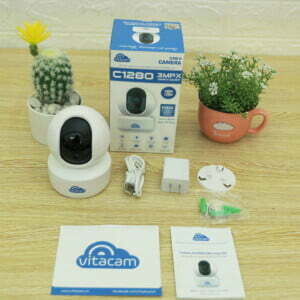 Vitacam C1280 - Camera IP 3MP góc siêu rộng, chuyên dùng trong nhà | HDnew CCTV